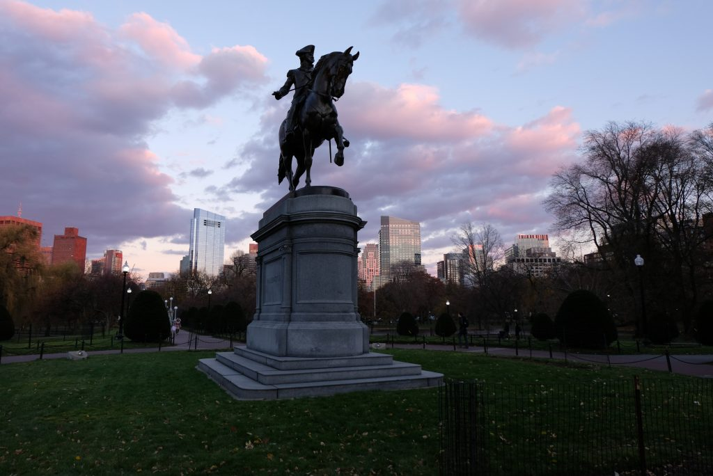 Boston Public Gardens Washingon Statue