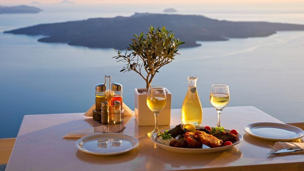 Santorini cena tramonto